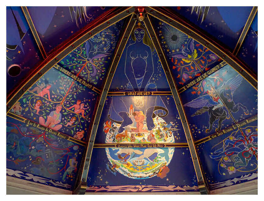 Mural by Alasdair Gray