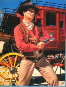 John Wayne Iconic Gunfighter Pose